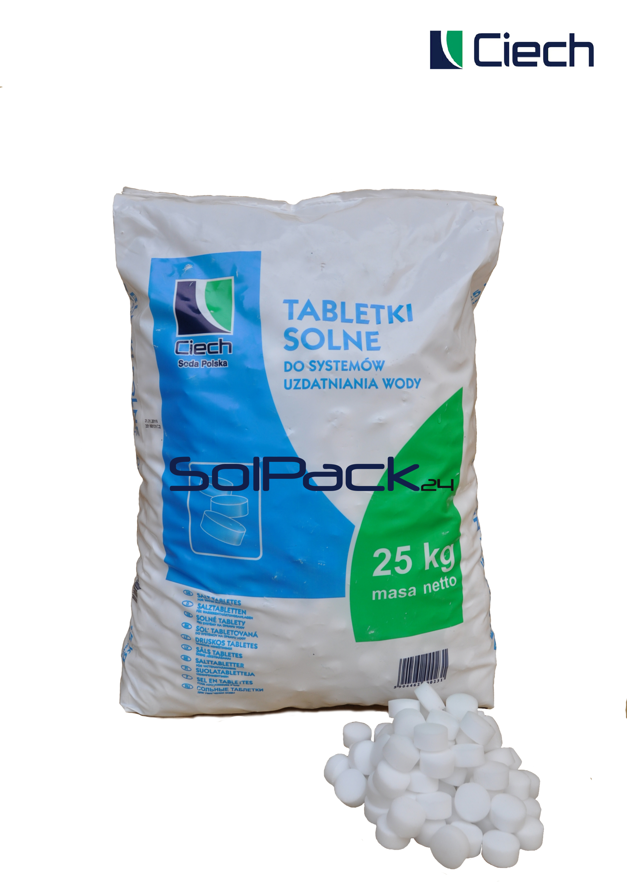Tabletki solne do zmiękczacza wody