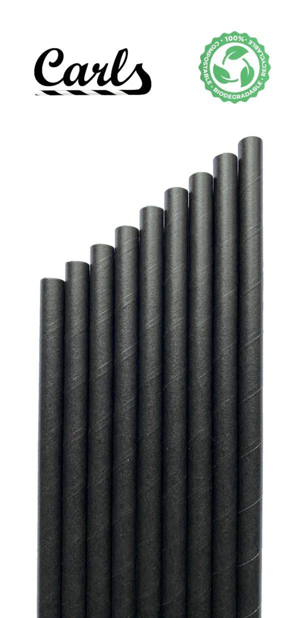 Słomki papierowe czarne